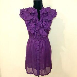 Royal Purple Ruffle Dress!